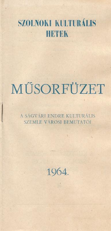 Szolnoki Kulturális Hetek műsorfüzete