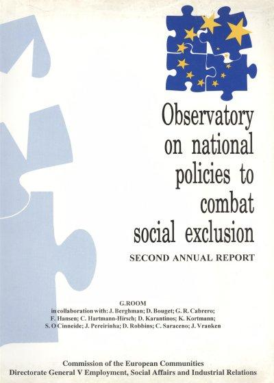 Observatory on national policies to combat social exclusion