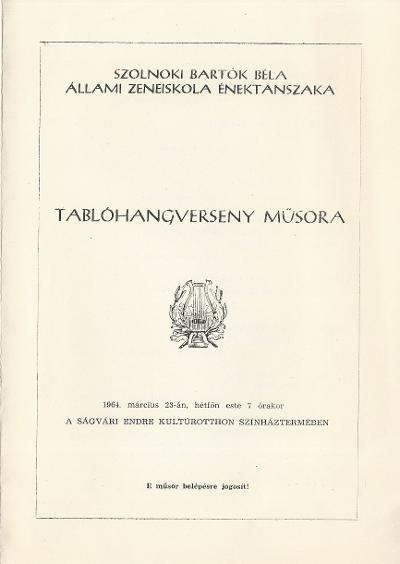 Szolnoki Bartók Béla Állami Zeneiskola Énektanszakának Tablóhangversenye