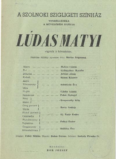 Ludas Matyi a szolnoki Szigligeti Színházban
