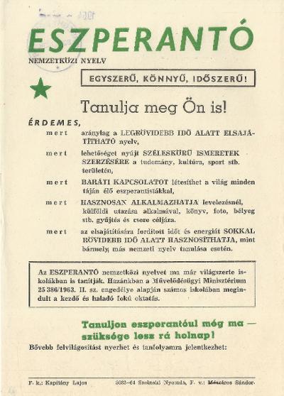 Tanuljon eszperantóul