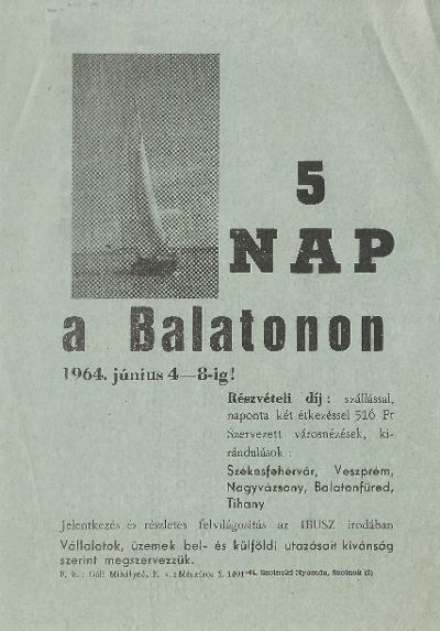 5 nap a Balatonon