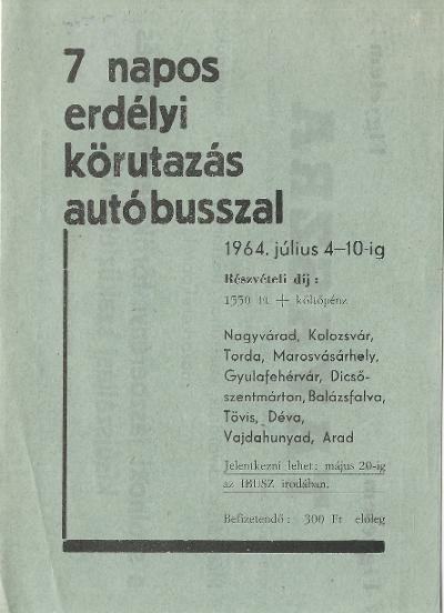7 napos erdélyi körutazás autóbusszal