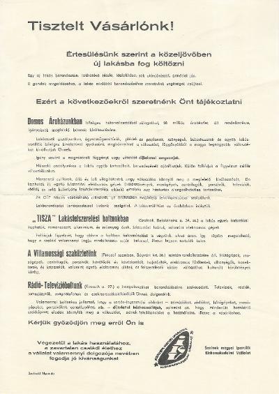 01b7e89d03 A Szolnok megyei Iparcikk Kiskereskedelmi Vállalat tájékoztatója