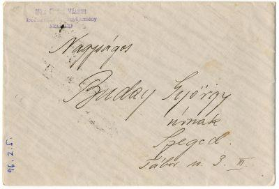 Ádám László levele Buday Györgyhöz