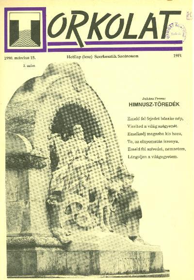 Torkolat 1990 címlapja