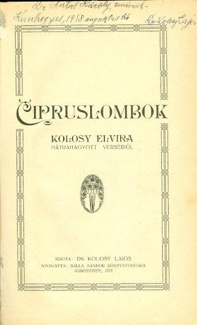 Cipruslombok 1933