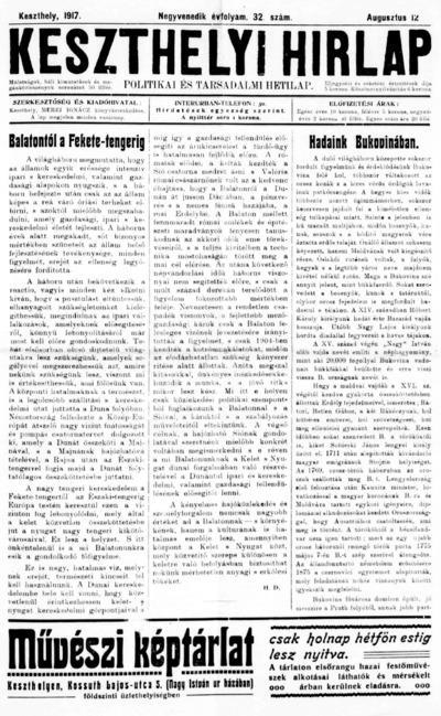 Keszthelyi Hírlap 1917.08.12.