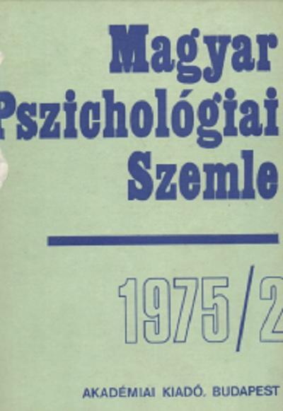 Magyar Pszichológiai Szemle 1975 2