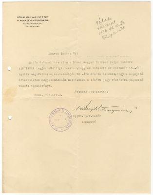 Koltay-Kastner Jenő levele Buday Györgyhöz
