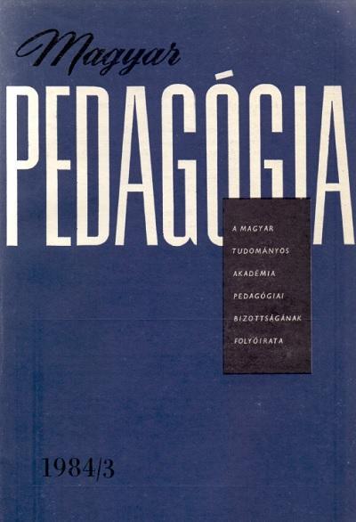 Magyar pedagógia 1984. 3. szám
