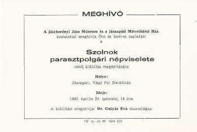 d38c859d1c Magyar Nemzeti Digitális Archívum • Meghívó kiállításra