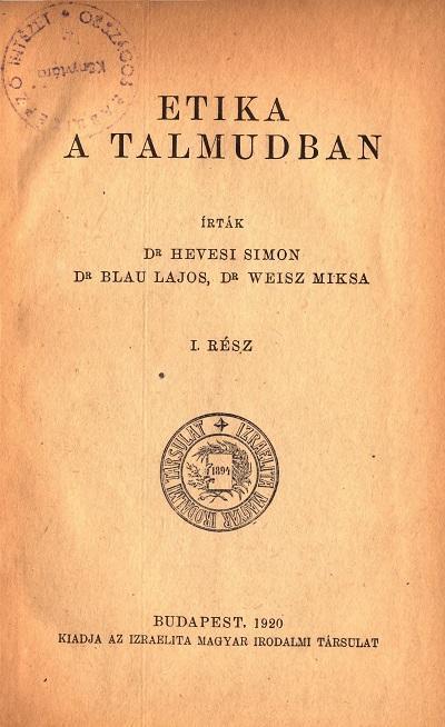 Etika a Talmudban_fotó