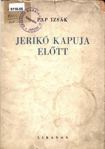 Pap_Izsák_Jerikó_kapuja_előtt