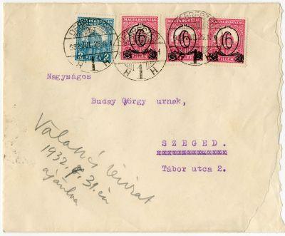 Kertész Dániel levele Buday Györgyhöz