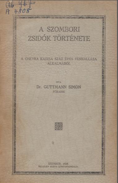 A_Szombori_zsidok_tortenete_lead
