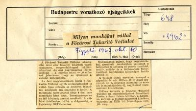 kutatási vállalt takarítást)