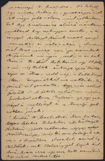 Herrmann Antal levele Herrmann Antalnénak