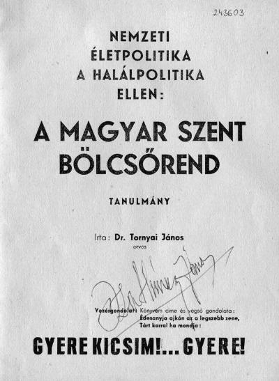 Nemzeti életpolitika a halálpolitika ellen: a Magyar Szent Bölcsőrend