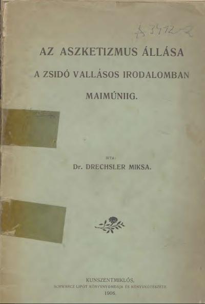 Aszketizmus állása a zsidó vallásos irodalomban