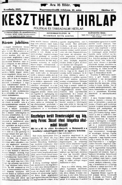 Keszthelyi Hírlap 1937.10.17.
