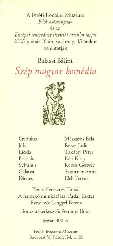 Petőfi Irodalmi Múzeum Felolvasó Színpada