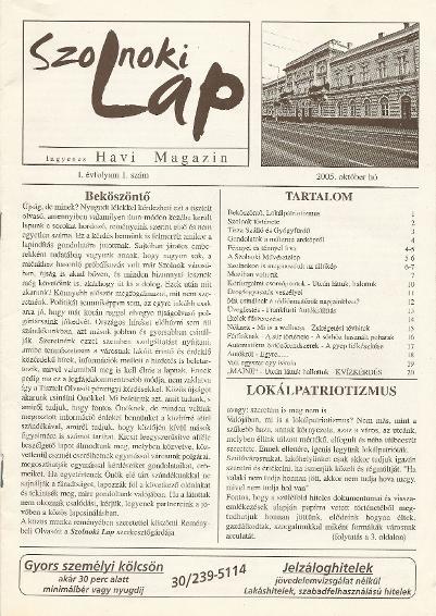 Szolnoki lap 2005