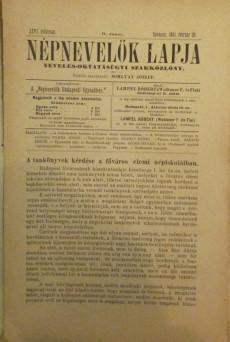 Népnevelők lapja 1891