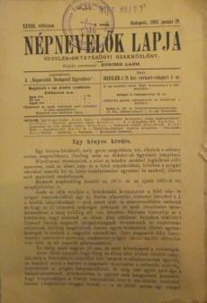 Népnevelők lapja 1893